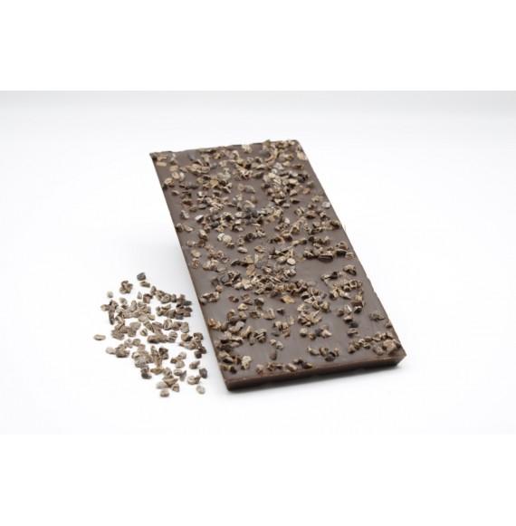 Tablette Noir aux éclats de fêve de cacao 100g