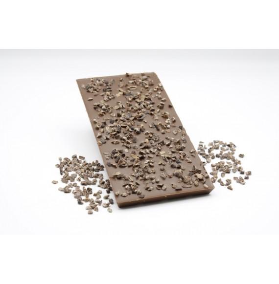 Tablette Lait aux éclats de fêve de cacao 100g